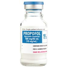 Propofol Injectable Emulsion 1%, 10 mg/ml Strength