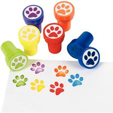 "Paw Stampers, Plastic, Assorted Colors, Non-toxic, 1"" W x 1-1/2"" H"