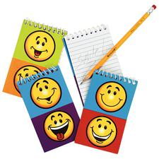 "Smile Face Spiral Note Pads, 3"" W x 5"" H, 12/Pkg"