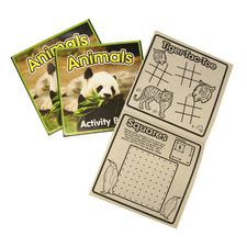 "Wildlife Activity Books, 5"" W x 5"" H, 24/Pkg"