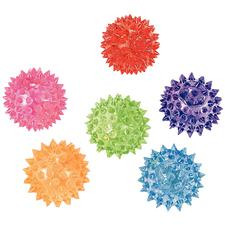 "Mini Light-Up Spike Balls, Vinyl, Assorted Colors, 2"" Dia, 12/Pkg, Vinyl"