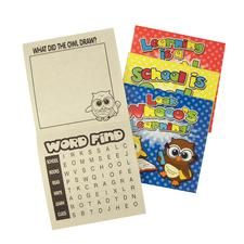 "Owl Activity Books, Paper, 5"" W x 5"" H, 24/Pkg"
