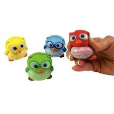 """Owl Relaxable, Foam, Assorted Colors, 2-1/4"""", 12/Pkg"""
