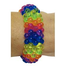 "Beaded Rainbow Bracelets, Multicolored, Plastic, 1-3/4""-4"" Diameter, 12/Pkg"