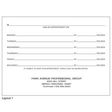 "Professional Slips, Personalized, 4"" x 5-1/2"", 100/Pad, 5 Pads/Pkg"