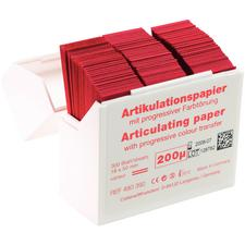 Hanel Articulating Paper Strips – 200 Microns, Red, 300/Dispenser Box