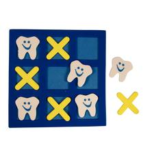 "Tooth Tic Tac Toe Game, 5-1/2"" W x 5-1/2"" H, 24/Pkg"
