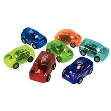 Translucent Pull-Back Cars, Assorted, 2