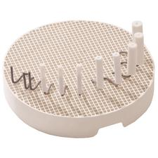 Honeycomb Mesh Sagger Tray & Pegs Kit, Round Tray