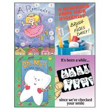 "Cartoon Assortment Pack 4-Up Laser Postcard, 4-1/4"" W x 5-1/2"" H, 100/Pkg"