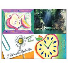 "General Assortment Pack 4-Up Laser Postcard, 4-1/4""  x 5-1/2"", 100/Pkg"