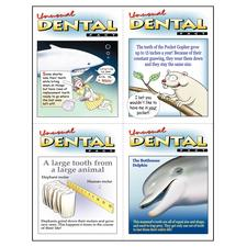 "Unusual Dental Facts Assortment Pack 4-Up Laser Postcard, 4-1/4"" W x 5-1/2"" H, 100/Pkg"