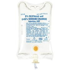 IV Solution Dextrose 5% and 0.45% Sodium Chloride Injection USP, 500 ml Container