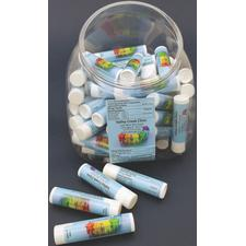 "Assortment Pack, White Tube, Personalized, .15 oz, 2-5/8"" H x 5/8"" Dia, 600/Pkg"