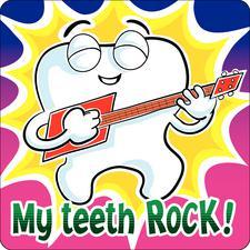 "Dental Stickers, 2-1/2"" W x 2-1/2"" H, 100/Roll"
