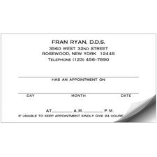 "Appointment Card Labels, 3-1/2"" W x 2"" H, 500/Pkg"