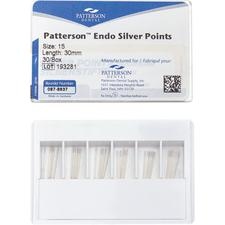 Patterson® Silver Points – Sizes 8-40, Color-Coded, 30/Pkg
