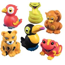 "Rainforest Finger Puppets, Assorted, 1"" W x 1-1/2"" H, 24/Pkg"