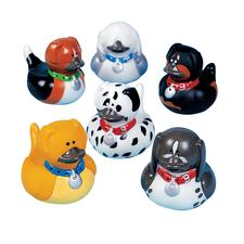 "Dog Rubber Duckies, Assorted, 1-1/2"" W x 2"" H, 12/Pkg"