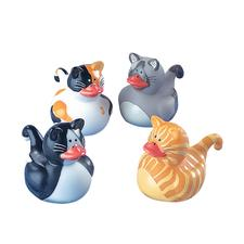 Cat Rubber Duckies, Assorted, 12/Pkg