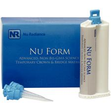 Nu Radiance® Nu Form Temporary Crown and Bridge Material – 50 ml Cartridge, 15 Mixing Tips
