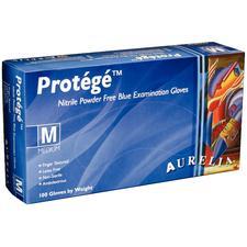 Aurelia® Protégé™ Nitrile Exam Gloves – Powder Free, Blue, 100/Pkg