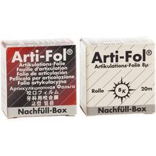 Pellicule métallique ShimStock Arti-Fol® – 20m x22mm, 2faces, boîte de recharge, noir/rouge