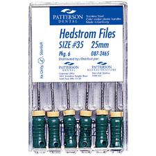 Patterson® Hedstrom Files – 25 mm, 0.02 Taper, 6/Pkg