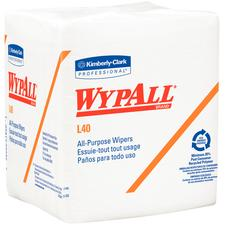 """WypAll® L40 Wipers – White, 12.5"""" x 12"""", 56 Sheets/Pkg, 12 Pkg/Case"""