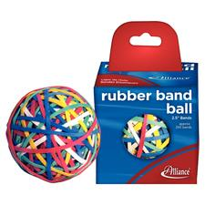 Rubber Band Ball, Assorted Colors, 2-1/2