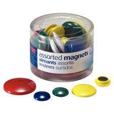 Handy Magnets, Assorted Colors & Sizes, 30/Pkg