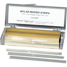 "Mylar Matrix Strips – Straight, 0.375"" x 4"", 1000/Pkg"