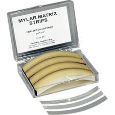 "Mylar Matrix Strips – Curved, 0.375"" x 4"", 1000/Pkg"