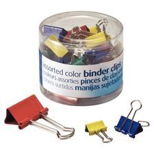 Binder Clip Assortment, Assorted Colors & Sizes, 30/Pkg