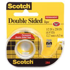 Scotch Double-Sided Tape, 1/2