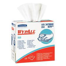 Wypall X60 Reinforced Wipers – White, Pop-Up Box, 9-1/10