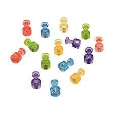 Magnetic Push Pins, Assorted Colors, 20/Pkg