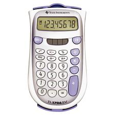 8-Digit Dual Power Handheld Calculator, Gray, 3-1/5