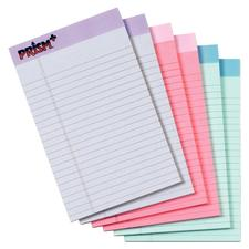 Prism Plus Colored Paper Pads, Assorted Colors, 6/Pkg