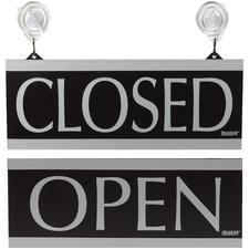 Century Series Open/Closed Sign, Black/Silver, 13