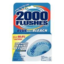 2000 Flushes Blue Plus Bleach Automatic Toilet Bowl Cleaner, 3.5 oz