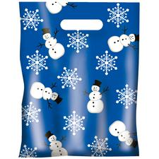 "Scatter Print Holiday Supply Bags, 7-1/2"" W x 10"" H, 100/Pkg"
