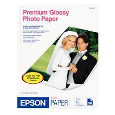 Epson Photo Paper, White Gloss, 10.4 ml