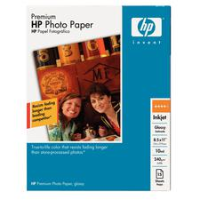 "Hewlett-Packard HP Photo Paper, Glossy, 10 ml, 8-1/2"" x 11"", 50 Sheets/Pkg"