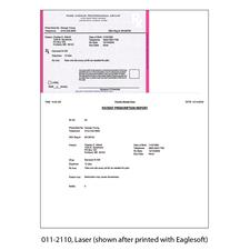 "Maine Laser Prescription Blanks, Nonpersonalized, 8-1/2"" W x 11"" H (overall), 5-1/2"" W x 4-1/4"" H (detached), 100/Pkg"