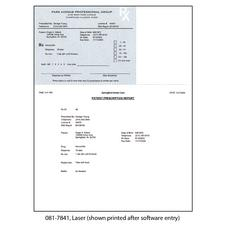"Indiana Prescription Blanks, Laser –  Blank, 8-1/2"" W x 11"" H (overall), 5-1/2"" W x 4-1/4"" H detached, 100/Pkg"