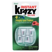 Krazy Glue, 0.5 g Tube, 4/Pkg