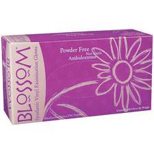 Blossom® Vinyl Exam Gloves –  Powder Free, Latex Free, 100/Box, 10 Boxes/Case