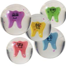 "Wacky Tooth Superballs, Assorted, 1-1/4"", 30/Pkg"