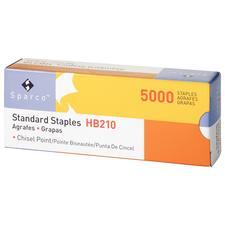 "Sparco Staples, 1/2"" Crown Width, 1/4"" Leg Length, Chisel Point, 5000/Box"